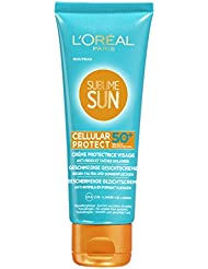 L'Oréal Paris Sublime Sun Cellular Protect Crème Solaire Visage Multi-protectrice FPS50 75 ml