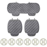 Monrodbitt 3 Unids/set Universal Cómodo Suave Cuadrado Asiento de Coche de Algodón Cojín Del Frente Asiento Trasero Auto Pad Pad Mat Suministros para el coche