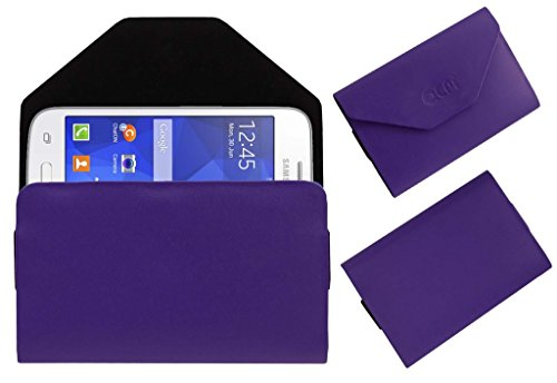 Acm Premium Pouch Case For Samsung Galaxy Star Advance Flip Flap Cover Holder Purple  available at amazon for Rs.179