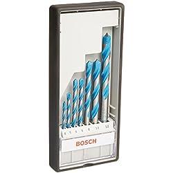 1 de Bosch Professional - Juego de 7 brocas multiuso Robust Line CYL-9 MultiConstruction (4 5 6 6 8 10 12 mm)