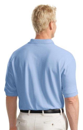 Port Authority Herren Groß und hoch Silk Touch Polo Shirt Blau (Strong Blue)