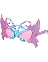 Sonnenbrille Funbrille Partybrille Schmetterling lila blau 03