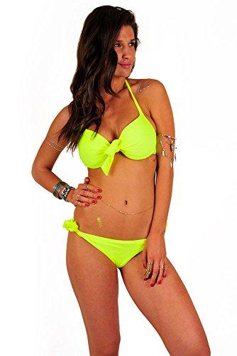 Mon Push-up Bikini Neongelb (Oberteil) Gelb