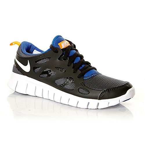Nike Free Run 2 (GS) Unisex-Kinder Laufschuhe black-white-total ...