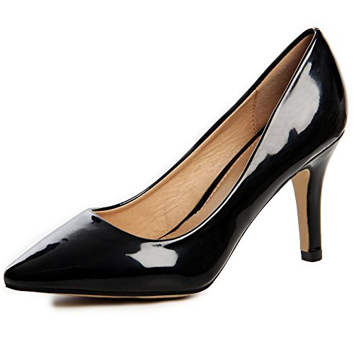 topschuhe24 622 Damen Pumps High Heels Lack Schwarz