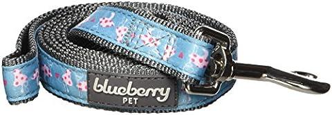 Blueberry Pet 2 cm by 150 cm Pinker Frühling Herz & Pilz Blüten Basic Nylon-Hundeleinen, M, Passender Hundehalsband erhältlich separate