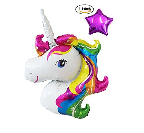 MY PINATA - Einhorn Luftballons Kindergeburtstag - Wundervolle Dekoration für den Geburtstag oder die Einhorn Party