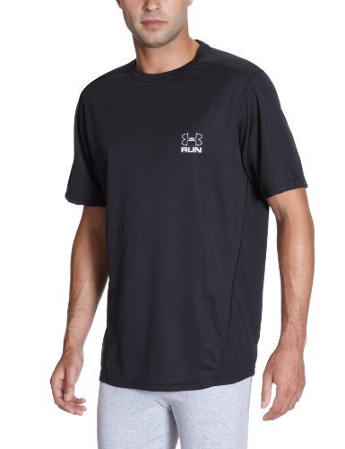 Under Armour Herren T-Shirt UA Run HG Shortsleeve, blk, S -
