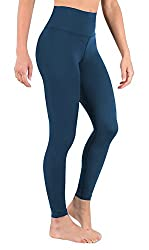Deeptwist Yoga Pants For Women High Waist - Tummy Control Running Leggings Fitness Workout Tights With Wide Waistband, Uk-dt4005-teal-6