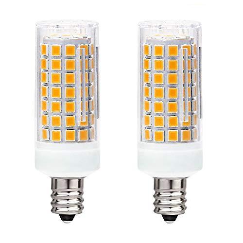 LED JDE11 E11 T4 Mini-Kerzenleuchter, 7 W 75 W bis 100 W, Halogen-Ersatz von Corn 120 V, für Kronleuchter, Leuchtmittel, Schrankbeleuchtung, Warmweiß 3000 K, dimmbar, 2 Stück LED Warmweiß 3000k -
