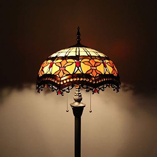 Gweat Tiffany 16 Pouces Baroque Salon créatif Chambre à Coucher Lampe de Chevet Lampe de Sol Classique de Luxe Lampe à Pied atmosphérique Moderne Lampe de Mariage