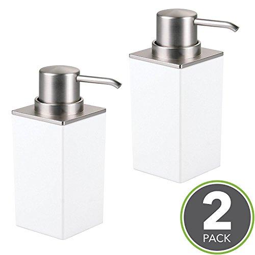 mDesign Set da 2 Dispenser sapone ricaricabile – Elegante dosatore ...