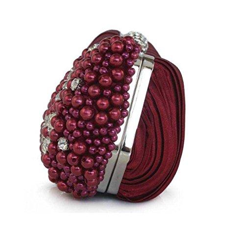 Signore Il Sacchetto Del Pranzo Di Diamanti Borsa Delle Signore Perla Cellulare Cosmetici Bag Silver