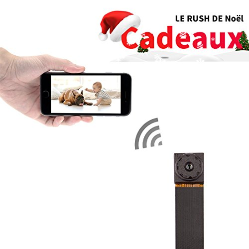 Mini Caméra Espion, FREDI HD 720P Portable WIFI Caméra de Surveillance