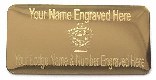Personalizzato Massonico Keystone Regalia Custodia Color oro