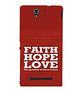 printtech Love Quotes Cool Back Case Cover for Sony Xperia C3 Dual D2502::Sony Xperia C3 D2533