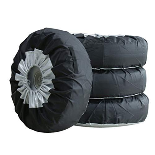 Dbtxwd Wasserdichte Reifenabdeckungen - Oxford Tuch Sun UV Protektoren Reifenabdeckungen Für Trailer Camper Auto LKW, 4Er Set,65Cm