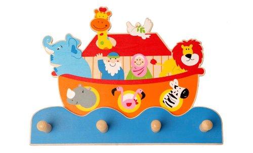 Inware 22409–Perchero infantil arca de Noé, de madera