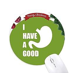 Magen Guter Körper Medizinische Nahrung Rund Gummi Maus Pad Weihnachtsbaum Mat