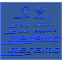 Ecoshirt I4-H6XH-QK10 Pegatinas Megamo Fram Dr1117 Vinilo Adesivi Decal Aufkleber Клей MTB Stickers Bike, Azul