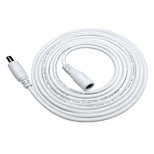 ängerungskabel 5.5 mm x 2.1 mm DC Anschlusskabel DC/Gleichstrom Verbinderkabel DC Verteiler Männlich zu Weiblich Verbinder für Netzteil, LED, CCTV-Kamera Power, Auto - Weiß ()