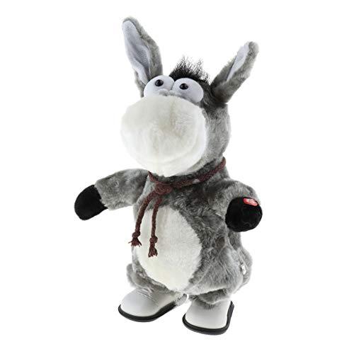 Homyl Lustiges Interaktives Spielzeug, Tanzende Plüsch Tier Kuscheltier,, Valentines-Geschenk - Esel -2 -