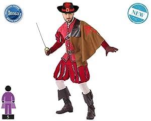 Atosa-61382 Atosa-61382-Disfraz Mosquetero-Adulto Hombre, Color rojo, XL (61382