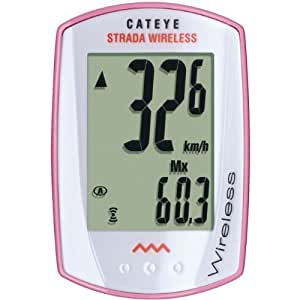 CatEye Strada Wireless Bicycle Computer CC-RD300W (Pink/White) Cycle Gear, Bicycling, Bike, Cycling, Bicycle