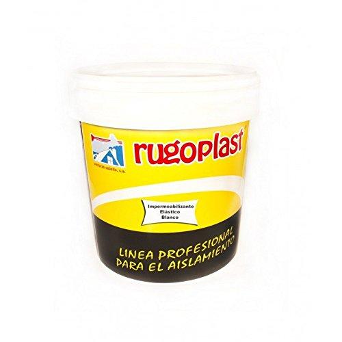 Pintura impermeabilizante de alta calidad elástica antigoteras Blanco / Rojo (0,750Ml, Blanco) Envío GRATIS 24 h.