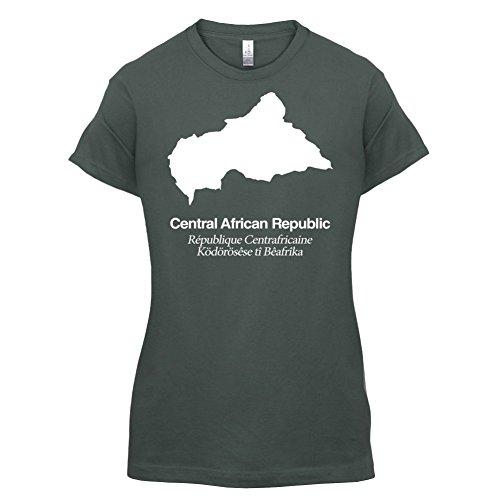 Central African Republic / Zentralafrikanische Republik Silhouette - Damen T-Shirt - 14 Farben Dunkelgrau