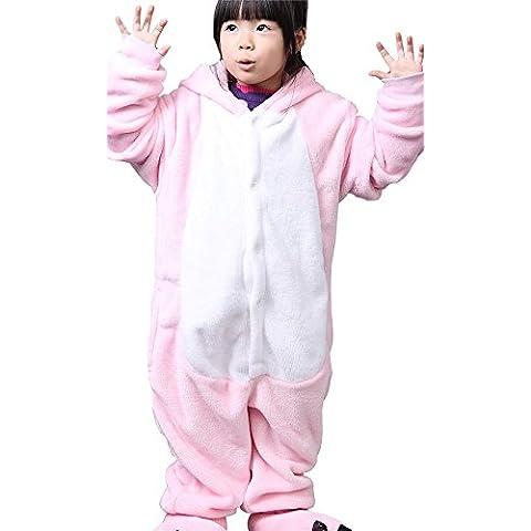 LATH.PIN Unisex Niños Pijamas Onesies Animal Cosplay Traje de Halloween