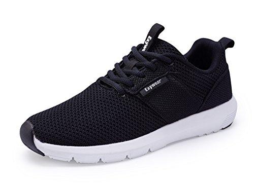 Ezywear Running Trainer Herren Gym Fitness SchuheHerren Sportschuhe Atmungsaktiv Gym Turnschuhe Leichtgewicht Laufschuhe Sneaker Shoes(42 EU, 83111Schwarz) -