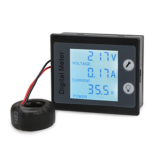 Droking 80~260V 0~100A Wechselstrom-Digital-Multimeter, Digital-Multimeter mit STN Vollbild LCD-Anzeige, 360 Grad-Betrachtung Wechselstrom-Digital-Messinstrument