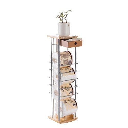 ZY FreistehendeToilettenpapierhalter,Standboden/TissueHolder/WC/Schmiedeeisen/Toilettenpapierhalter/Lagerregal/Blumenständer,A (Schmiedeeisen Wc-papier)