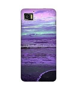 Purple Waves Lenovo K860 Case