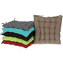 lm distribution galette de chaise capitonne nice 40 x 40 cm couleur gris - Coussin De Chaise 40x40