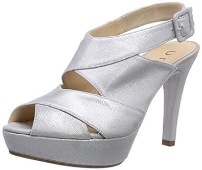 unisa women 39 s tesco mts fashion sandals silver silber. Black Bedroom Furniture Sets. Home Design Ideas