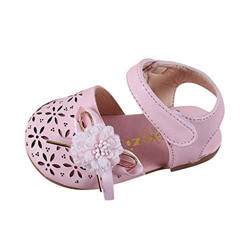 koperras Babyschuhe Kinder MäDchen SüßE SüßE Hohle Blume Prinzessin Schuhe Baotou Sandalen Hausschuhe Klettverschluss LäSsig Wild
