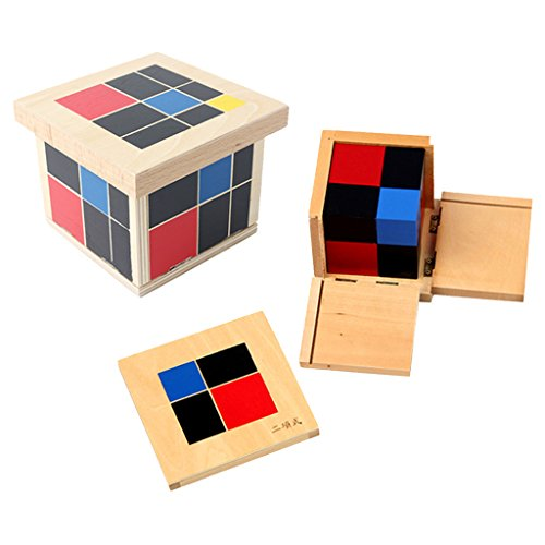 MagiDeal Kit Juguetes Educativos de Álgebra y Matemáticas Montessori Cubitos Binomio Trinomio Regalos para Niños