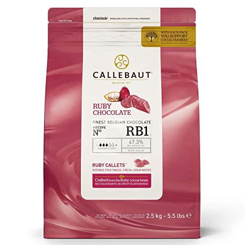 Callebaut N° RB1 - Finest Belgian Ruby Chocolate (Callets) 2.5kg