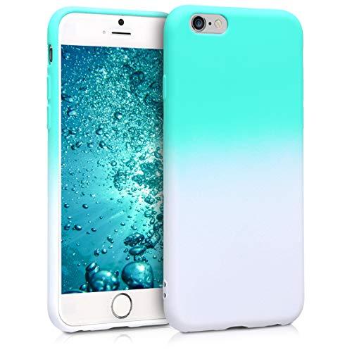 kwmobile 45752.01 Handy Tasche 11,9 cm (4,7 Zoll) Mint weiß - Handyhüllen (Case, Apple, Apple iPhone 6/6S, 11,9 cm (4.7