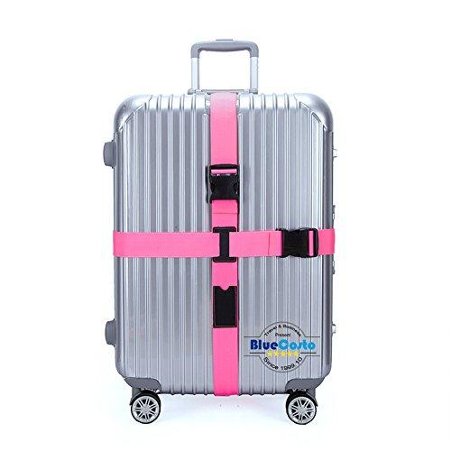CSTOM Gepäckgurt Kofferband kofferbander Kreuz Pink