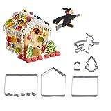 Westmark Keks-Ausstechformen-Set mit 3D-Effekt, Knusperhäuschen/Lebkuchenhaus, 6-tlg., Rostfreier Edelstahl, 31992260