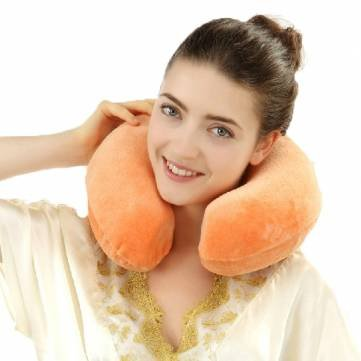 Bheema U-Form -Gedächtnis-Schaum -Kissen Nackenschutz Kopfstütze Travel Soft -Kissen - Rose Red