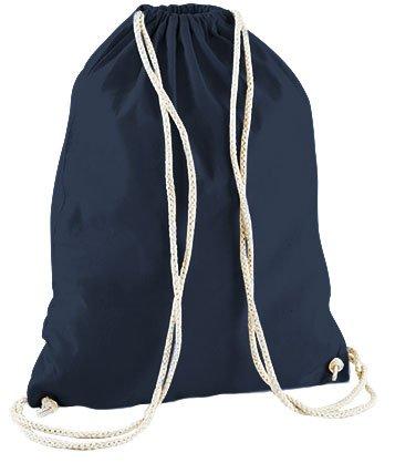 Jutebeutel Turnbeutel Sportbeutel Stofftasche Baumwolltasche Tasche Rucksack mit Kordel Cotton Gymsack Unicorn Einhorn cutie (Royal Blau) Blau