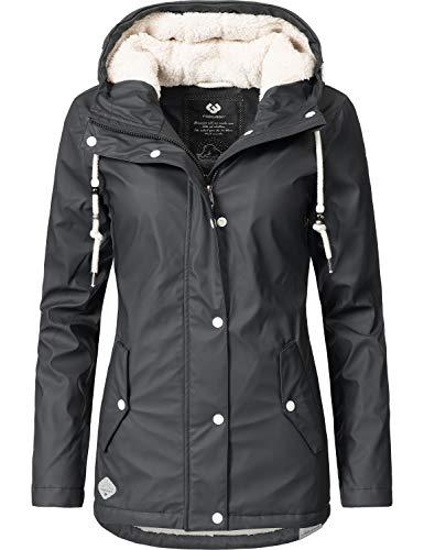 Ragwear Damen Mantel Wintermantel Regenmantel Marge Schwarz0818 Gr. XL ab637528d1