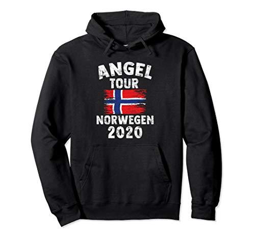 Norwegen 2020 - Angel Tour nach Norwegen mit Flagge Pullover Hoodie