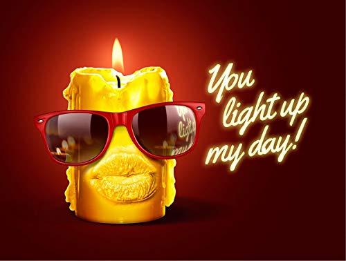 Diese Klappkarte Sonnenbrille Grußkarte Geburtstag Light up My Day Birthday UV400 15x11cm