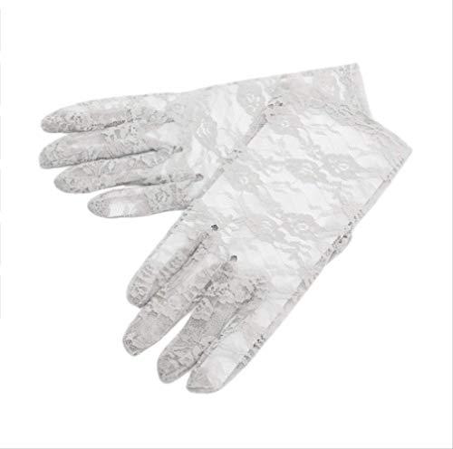 YiJiaMei Dünnschliff Sonnencreme Auto Frauen Schnürhandschuhe Ritual Performances Handschuhe D