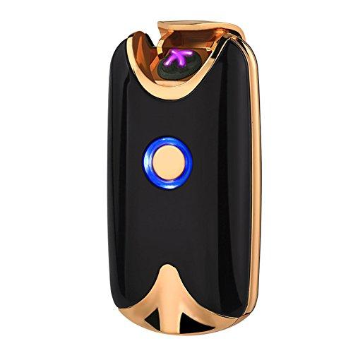 Lichtbogen Feuerzeug Zigarette Feuerzeug - Juleya Elektronisch Feuerzeug USB wiederaufladbare lighter - ohne Gas und Benzin - Flammenlos Winddichte - mit Micro-USB-Ladekabel